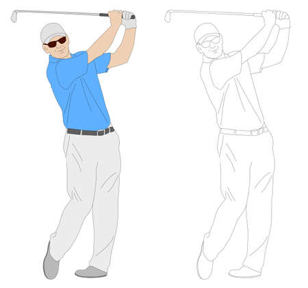 golfer: golfer illustration  - vector Illustration