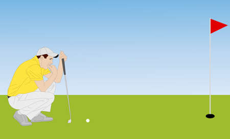 caddy: golfer illustration 4 - vector Illustration