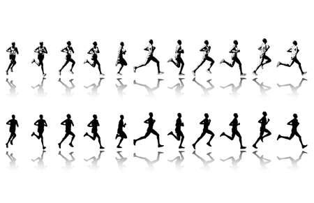 marathon runner in 11 continuous steps