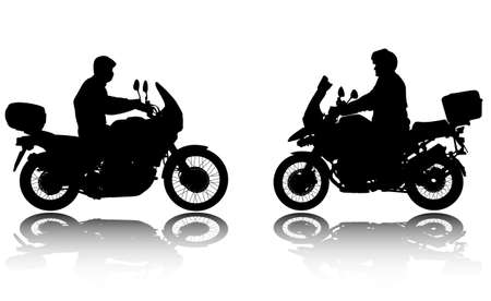 silhouettes: motorcyclists silhouettes