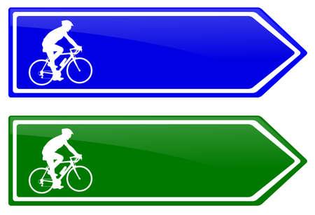 lane: cycle lane direction signboard