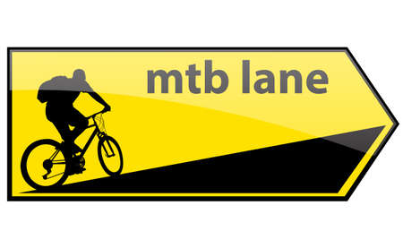 mtb: mtb cycle lane direction signboard