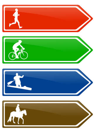 bicycle lane: recreation board signs