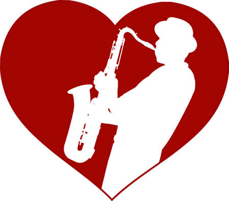 Love jazz concept - vector Illustration