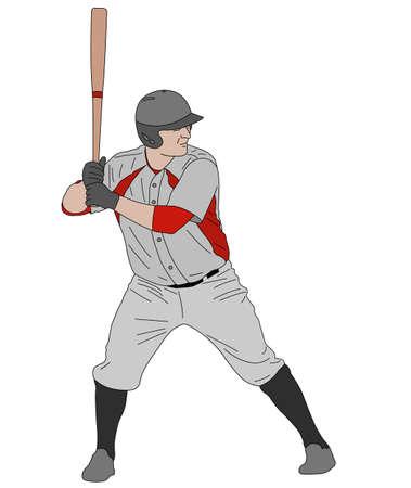 baseball player  detailed illustration - vector