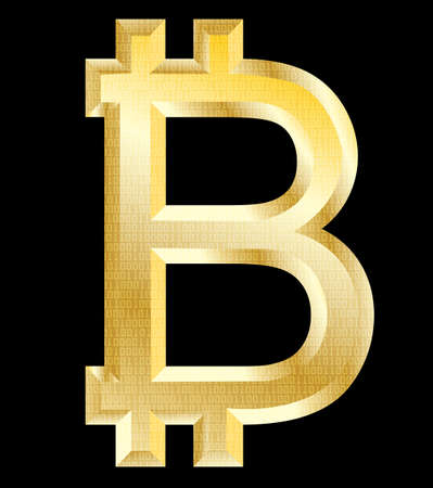 bitcoin , golden symbol - vector