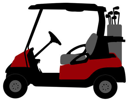 golf cart illustration - vector