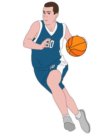 basketball player illustration - vector