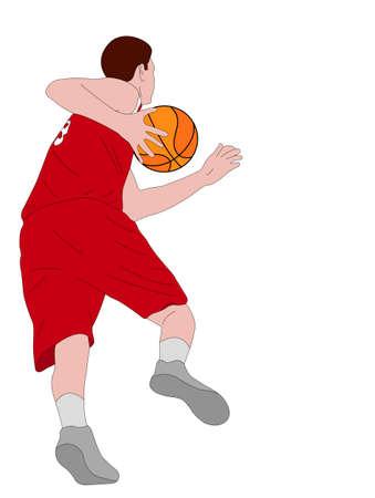 Basketball player illustration - vector
