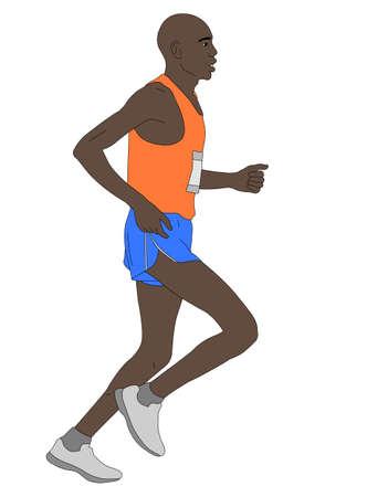 marathon runner illustration - vector
