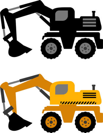 excavator icon - vector Illusztráció