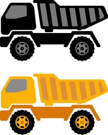 dumper truck illustration - vector Illustration