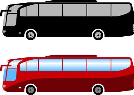 autocar, autobús, simple, ilustración, -, vector Ilustración de vector