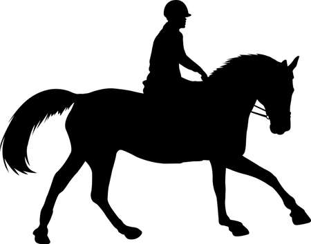 horse riding silhouette - vector Stock fotó - 134223429
