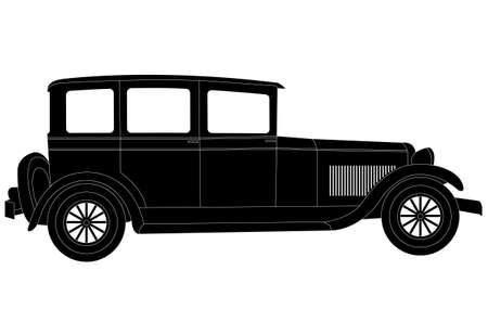 old timer vintage car illustration - vector Illustration