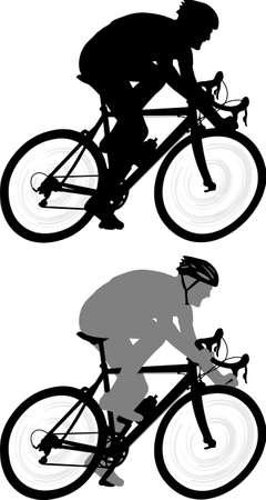race bicyclist silhouette - vector Ilustração