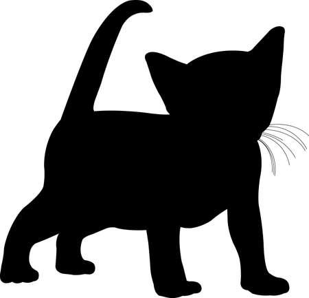 kitten silhouette - vector artwork