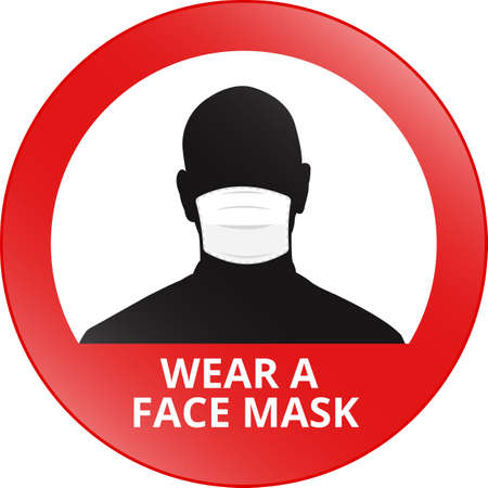 Wear a face mask sign - vector