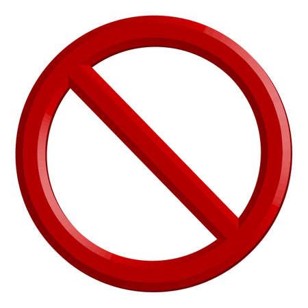 forbidden sign- 3d emty template - vector