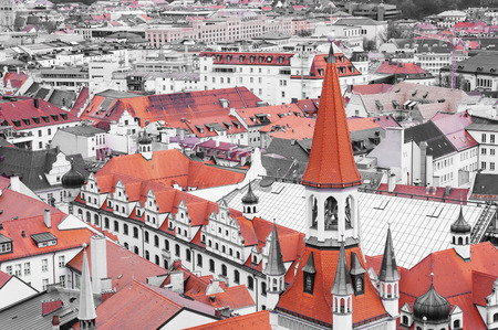 Red roof tops of Munich city center photo