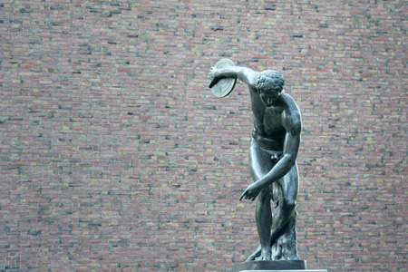 Discobolus famous greek sculpture photo