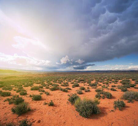 navajo land: Arizona Desert Storm Aproaching
