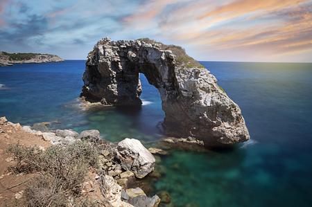 mallorca: Natural Arch Es Pontas, Mallorca, Baleares, Spain