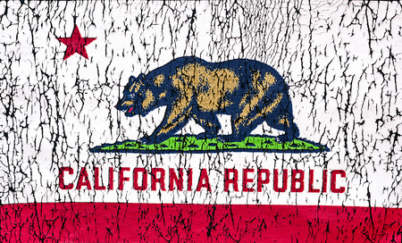 california flag: Grunge Rustic State of California Flag