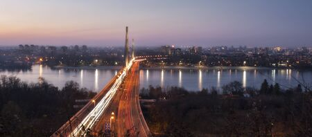 Sunset over Liberty Bridge in Novi Sad Serbia Reklamní fotografie