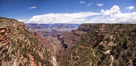 south kaibab trail: Grand Canyon Panorama, South Kaibab Trail, South Rim of Grand Canyon, Arizona, USA. Stock Photo