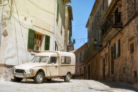 Street detail in Valldemossa village in Mallorca, Spain.
