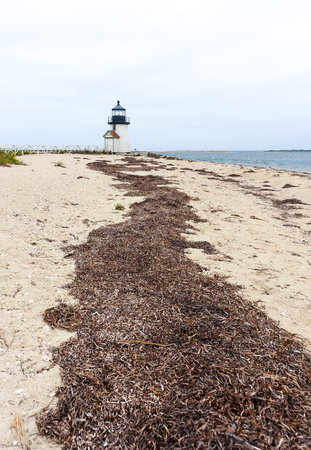 Brant Point Lighthouse, famous tourist attraction and Landmark of Nantucket Island