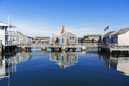 Harbour House in quiet and calm morning in Nantucket Island
