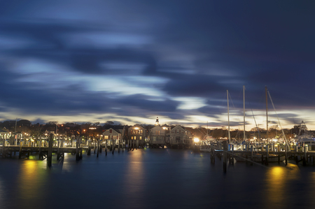 Harbor Houses quiet and calm Dusk in Nantucket Island