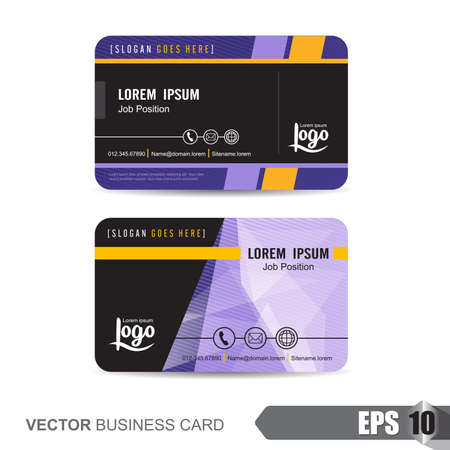 cartes de visite, illustration vectorielle Vecteurs