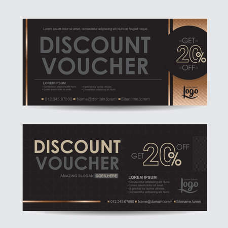 discount banner: discount voucher template with premium pattern,gift voucher certificate coupon design template, Collection gift certificate business card banner calling card poster,Vector illustration