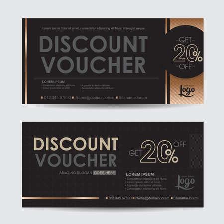 Discount Voucher Template With Premium Pattern,gift Voucher ...