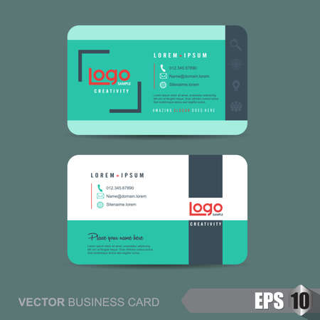 business card template: business card template,Vector illustration Illustration