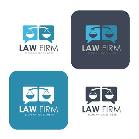 firme: bufete de abogados, asesoría jurídica plantilla de identidad corporativa, identidad corporativa, vector ilustrador