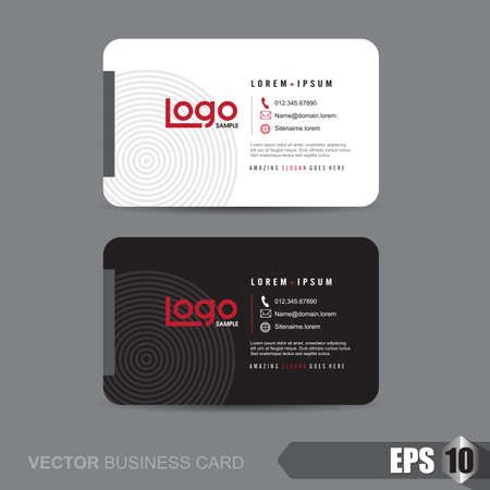 business connections: business card template,Vector illustration Illustration