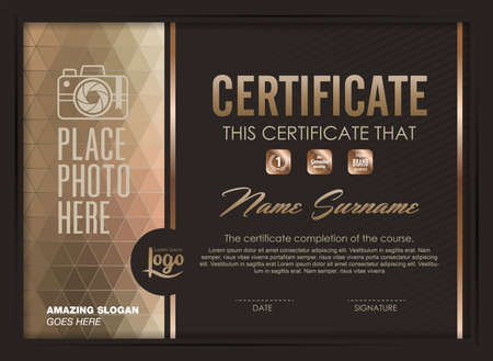 certificate template with clean and modern pattern,Vector illustration Zdjęcie Seryjne - 46179175