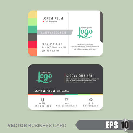 business cards design: business card template,Vector illustration Illustration