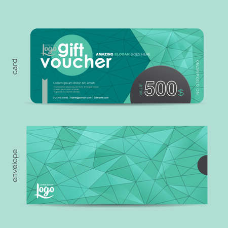 business value: Gift voucher template with colorful pattern,Vector illustration