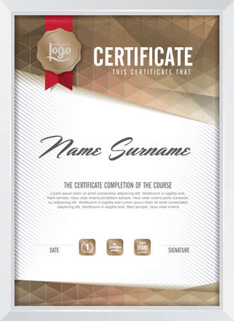 modern illustration: certificate template with clean and modern pattern,Vector illustration