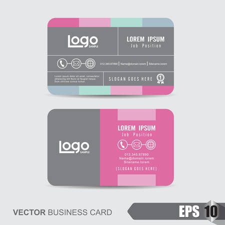 discount card: business card template,Vector illustration Illustration