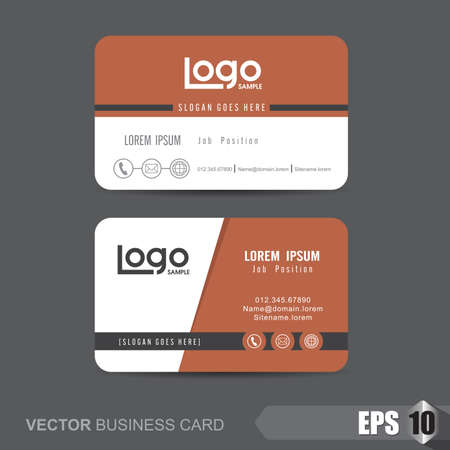 business card template,Vector illustration 矢量图像