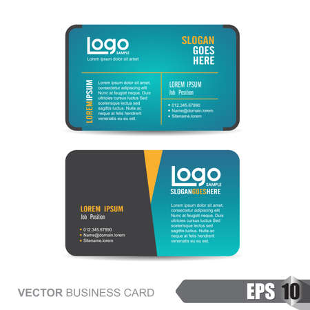 business card template,Vector illustration Vectores