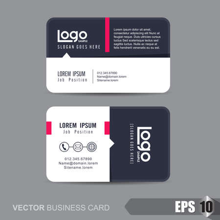 web design banner: business card template,Vector illustration Illustration