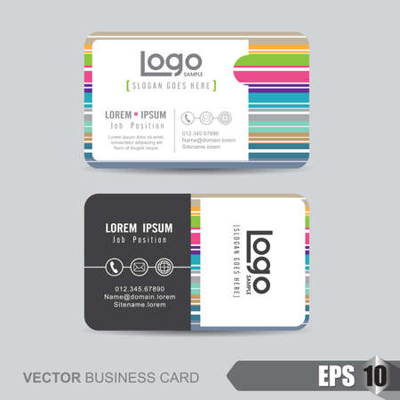 background card: business card template,Vector illustration Illustration