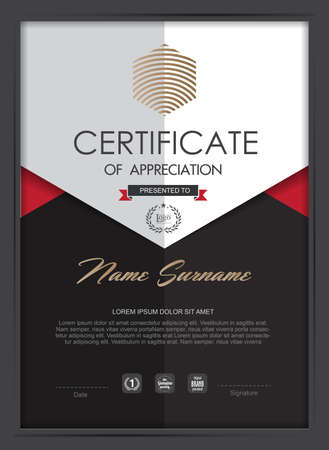certificate template: certificate template with clean and modern pattern,Vector illustration